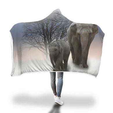 Elephant Walk Hooded Blanket - 2 sizes - My Diva Baby