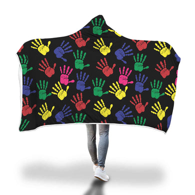 Hand Print Hooded Blanket - 3 sizes - My Diva Baby