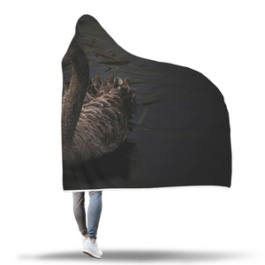 Black Swan Hooded Blanket - 2 sizes - My Diva Baby
