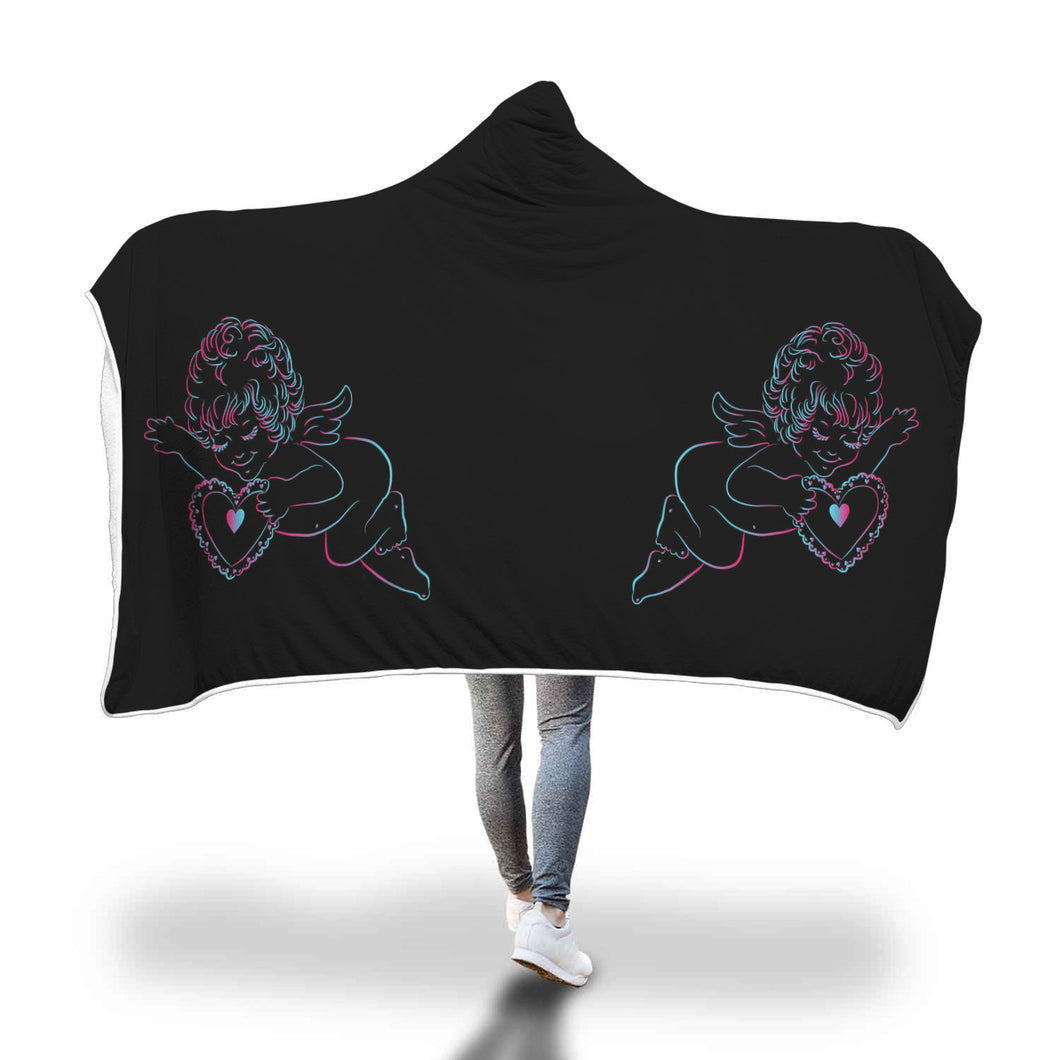 Cupid Love Hooded Blanket - 2 sizes - My Diva Baby