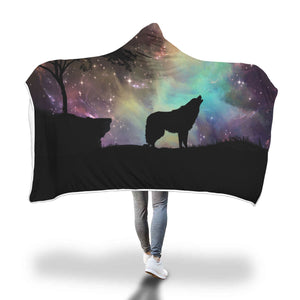Howling Wolf Hooded Blanket - 2 sizes - My Diva Baby