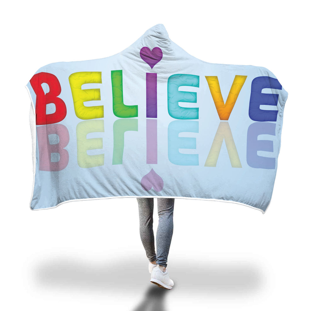 Believe Hooded Blanket - 2 sizes - My Diva Baby