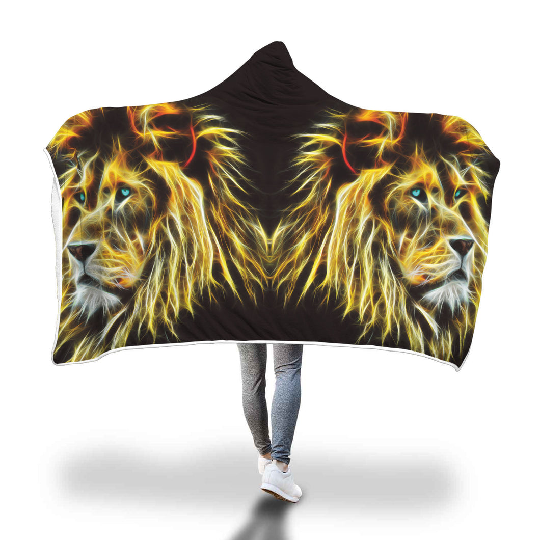 Electric Lion Hooded Blanket - 2 sizes - My Diva Baby