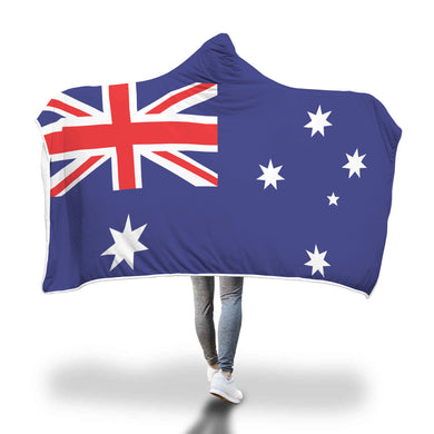 Australian Flag Hooded Blanket - 2 sizes - My Diva Baby