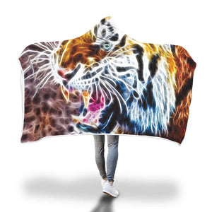 Electric Tiger Hooded Blanket - 2 sizes - My Diva Baby