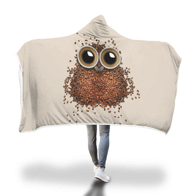 Coffee Owl Hooded Blanket - 2 sizes - My Diva Baby