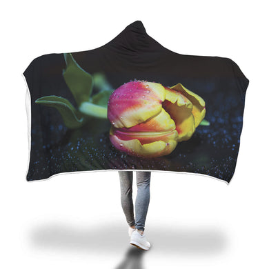 Pink & Yellow Rose Hooded Blanket - 2 sizes - My Diva Baby
