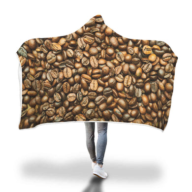 Mmm Coffee Hooded Blanket - 2 sizes - My Diva Baby