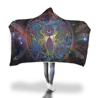 Elephant Mandala Hooded Blanket - 2 sizes - My Diva Baby