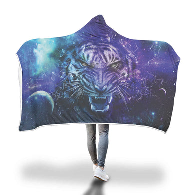 Galaxy Tiger Hooded Blanket - 2 sizes