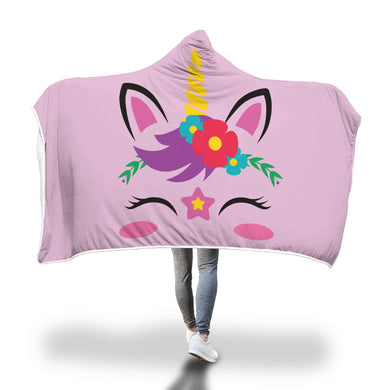 Unicorn 1 Hooded Blanket - 2 sizes