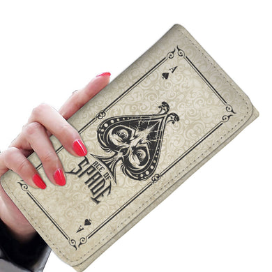 Ace Of Spades - Bone - Women's Wallet