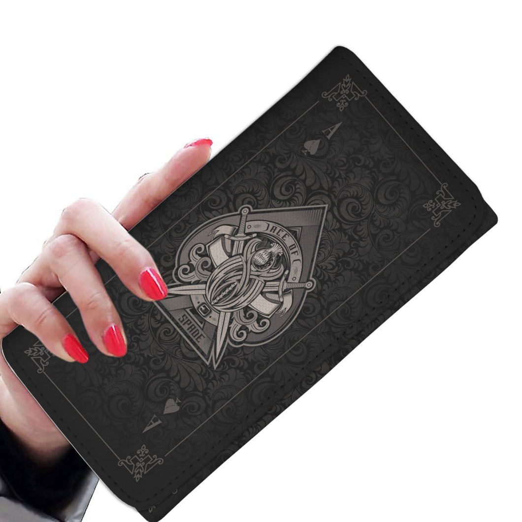 Ace Of Spades - Black - Women's Wallet