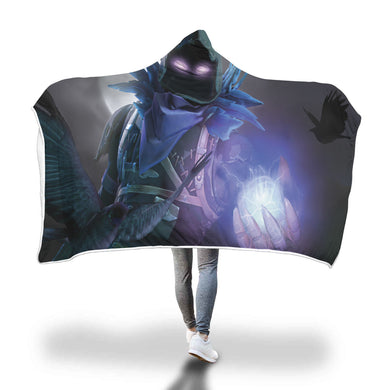 Hooded Blanket - Raven - 2 sizes