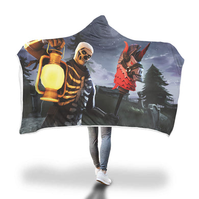 Hooded Blanket - Skull Trooper - 2 sizes