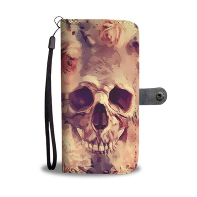 Rosed Skull - Phone Wallet