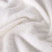 Floral Elk - White - Sherpa Throw Blanket - 4 sizes