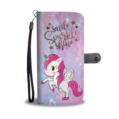 Smile Sparkle Shine - Phone Wallet