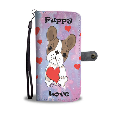 Puppy Love - Pink & Purple - Phone Wallet