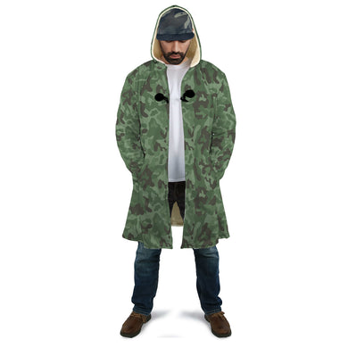 Camo Green Hooded Cloak