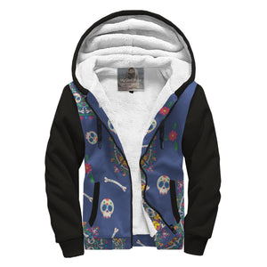 Day Of The Dead Sherpa Zip Hoodie