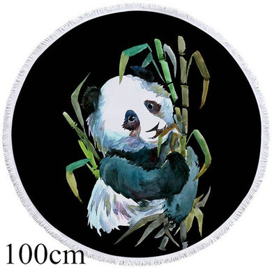 Panda Hug Round Beach Towel - 2 sizes
