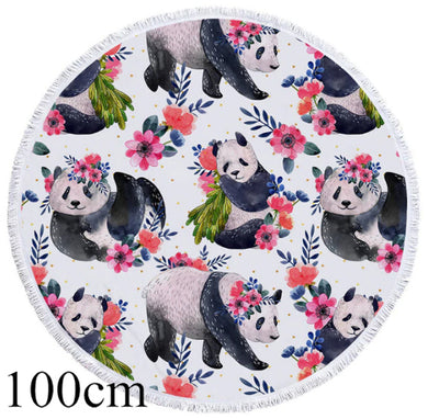 Cherry Panda Round Beach Towel - 2 sizes