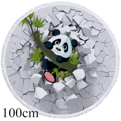 Rock Panda Round Beach Towel - 2 sizes