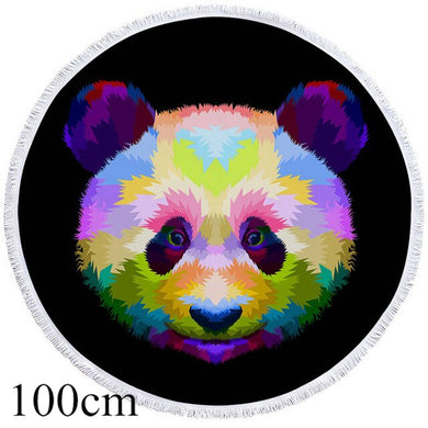 Watercolour Panda Round Beach Towel - 2 sizes
