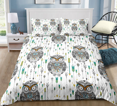 Arrows & Owls Doona Cover 2/3pc set - My Diva Baby