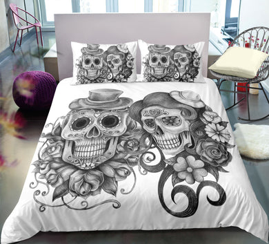 Day Of The Dead Couple Doona Cover 2/3pc set - My Diva Baby