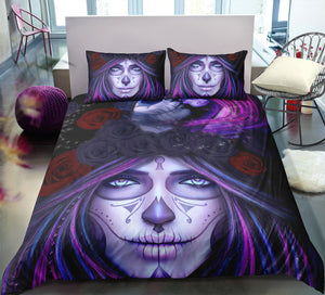 Dia De Los Muertos - Painted Lady - Doona Cover 2/3pc set - My Diva Baby