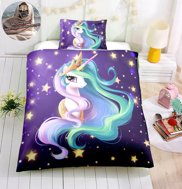 Dreamy Unicorn Doona Cover 2/3pc set - My Diva Baby