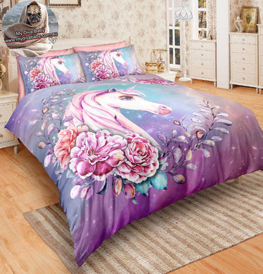 Floral Unicorn Doona Cover 2/3 set - My Diva Baby