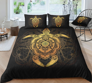 Golden Ornate Turtle Doona Cover 2/3pc set - My Diva Baby