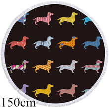Mini Dachshund Round Beach Towel - 2 sizes