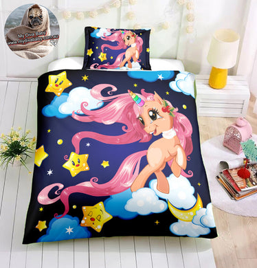 Night Sky Unicorn Doona Cover 2/3pc set - My Diva Baby