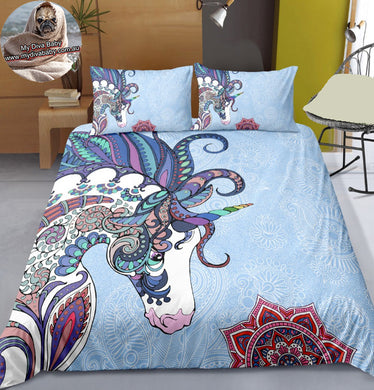Paisley Unicorn Doona Cover 2/3pc set - My Diva Baby