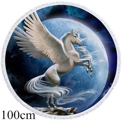 Pegasus Round Beach Towel - 2 sizes