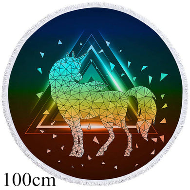 Prism Unicorn Round Beach Towel - 2 sizes
