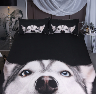 Husky 3D Doona Cover 2/3pc set