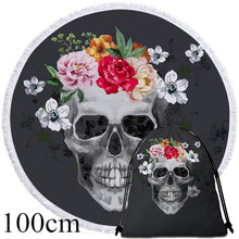 Sugar Skull Round Beach Towel - 2 sizes