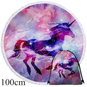 Unicorn Galaxy Round Beach Towel - 2 sizes
