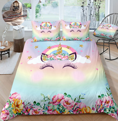 Unicorn Horn Doona Cover 2/3pc set - My Diva Baby