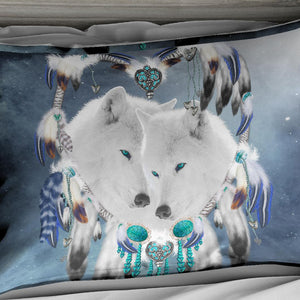 White Wolf Dreamcatcher Doona Cover 2/3pc set - My Diva Baby
