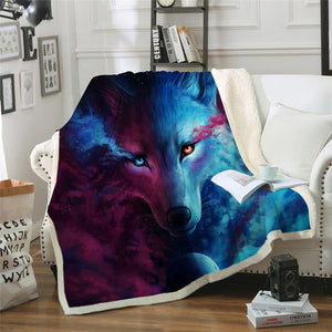 Where Light And Dark Meet by JoJoesArt Sherpa Throw Blanket - 4 sizes