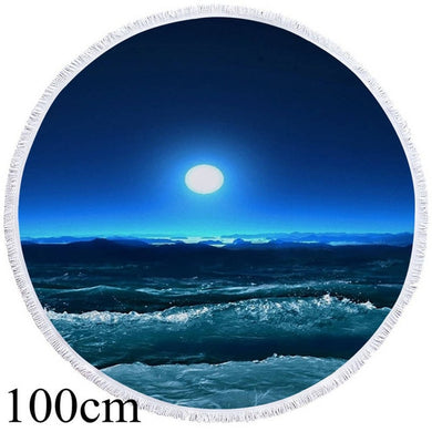 Beach At Night Round Beach Towel - 2 sizes