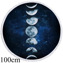 Moon Eclipse Round Beach Towel - 2 sizes