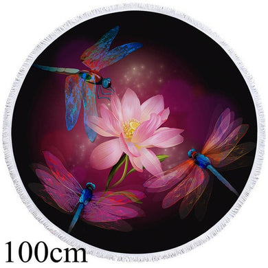 Dragonfly Round Beach Towel - 2 sizes