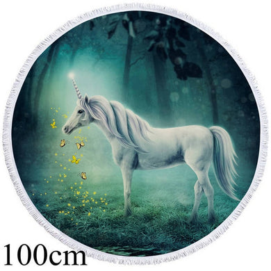 Dreamy Unicorn Round Beach Towel - 2 sizes